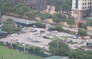 ảnh thực tế sân tập lái xe Nam Trung Yên quận Cầu Giấy