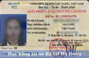 Học bằng lái xe ô tô B2 tại Hà Đông