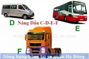 Nâng hạng bằng lái xe tại quận Hà Đông