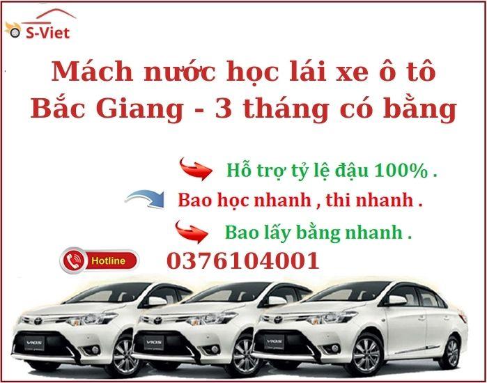 Học Bằng Lái Xe ô tô Bắc Giang – Học Cấp Tốc - Có Bằng Sau 3 Tháng