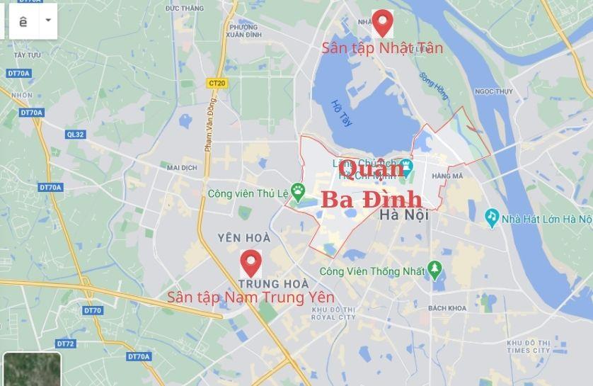 sân tập lái ô tô gần quận Ba Đình