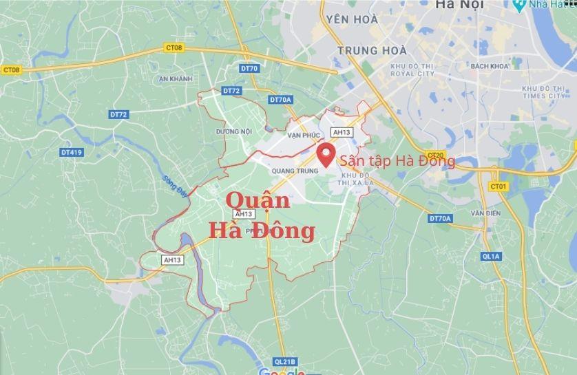 sân tập lái xa ô tô quận Hà Đông