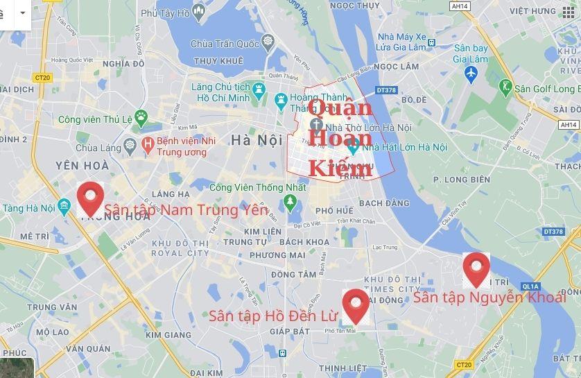 Sân Tập Lái Xe ô tô Quận Hoàn Kiếm
