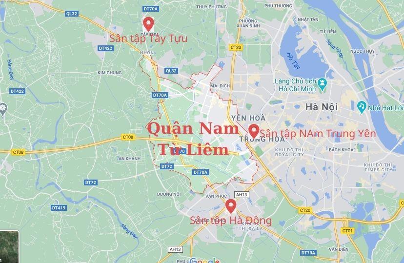 sân tập lái ô tô gần quận Nam Từ Liêm