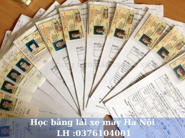 Học bằng lái xe máy Hà Nội uy tín cam kết thi nhanh