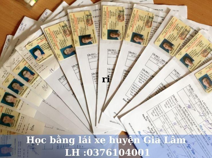 Học lái xe ô tô B1 B2 C và nâng hạng tại huyện Gia Lâm Hà Nội
