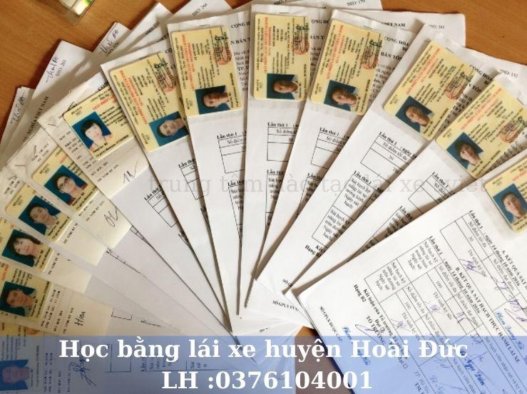 Học lái xe ô tô B1 B2 C và nâng hạng tại huyện Hoài Đức Hà Nội