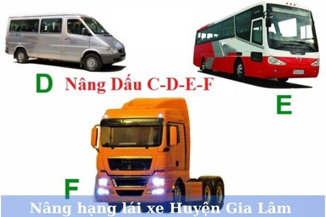 Nâng hạng bằng lái xe tại huyện Gia Lâm