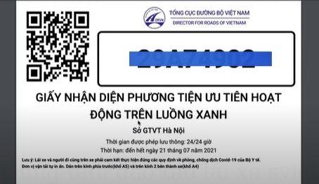 đăng ký luồng xanh trực tuyến lái xe ô tô & in bảng QR Code
