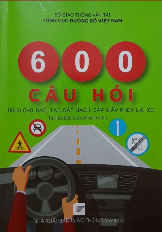 600 câu hỏi sat hach ly thuyet lai xe