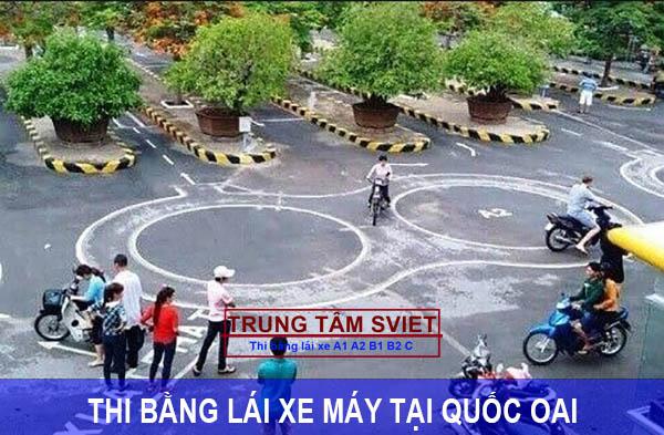 Thi bằng lái xe máy tại Quốc Oai
